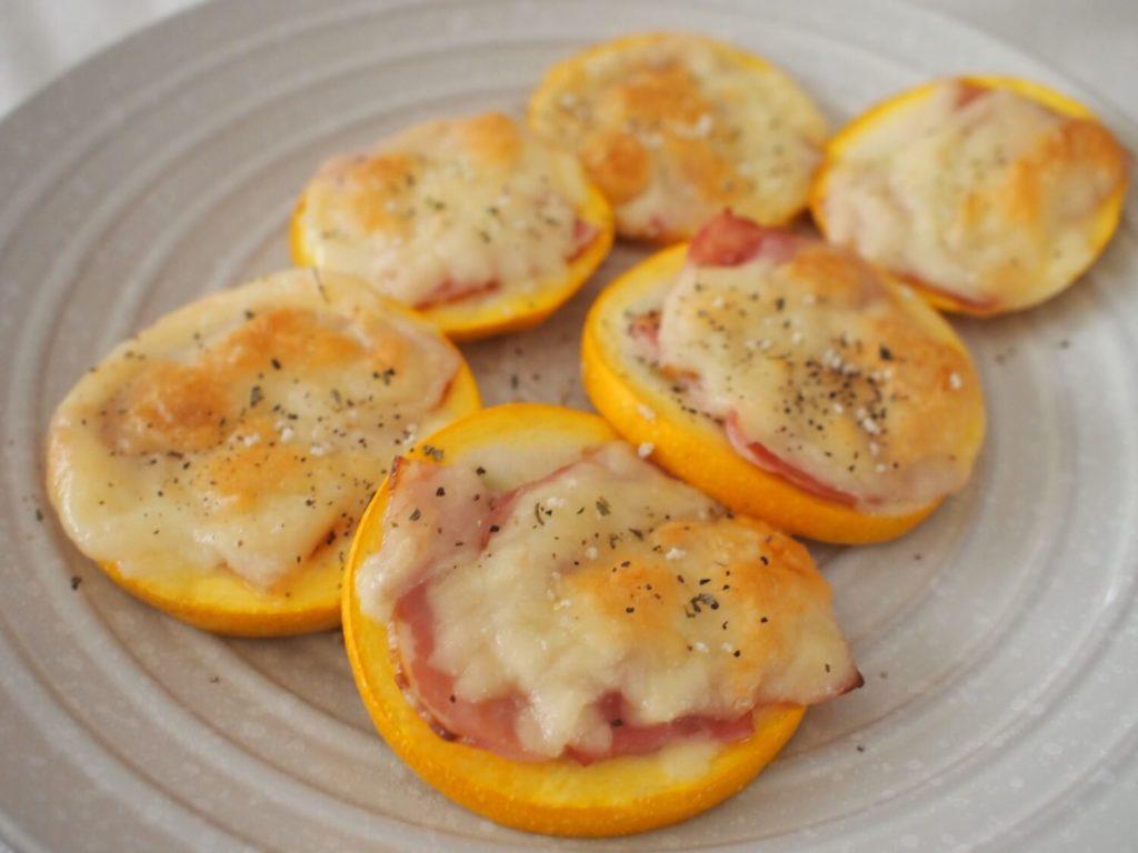ズッキーニのベーコンチーズ焼き