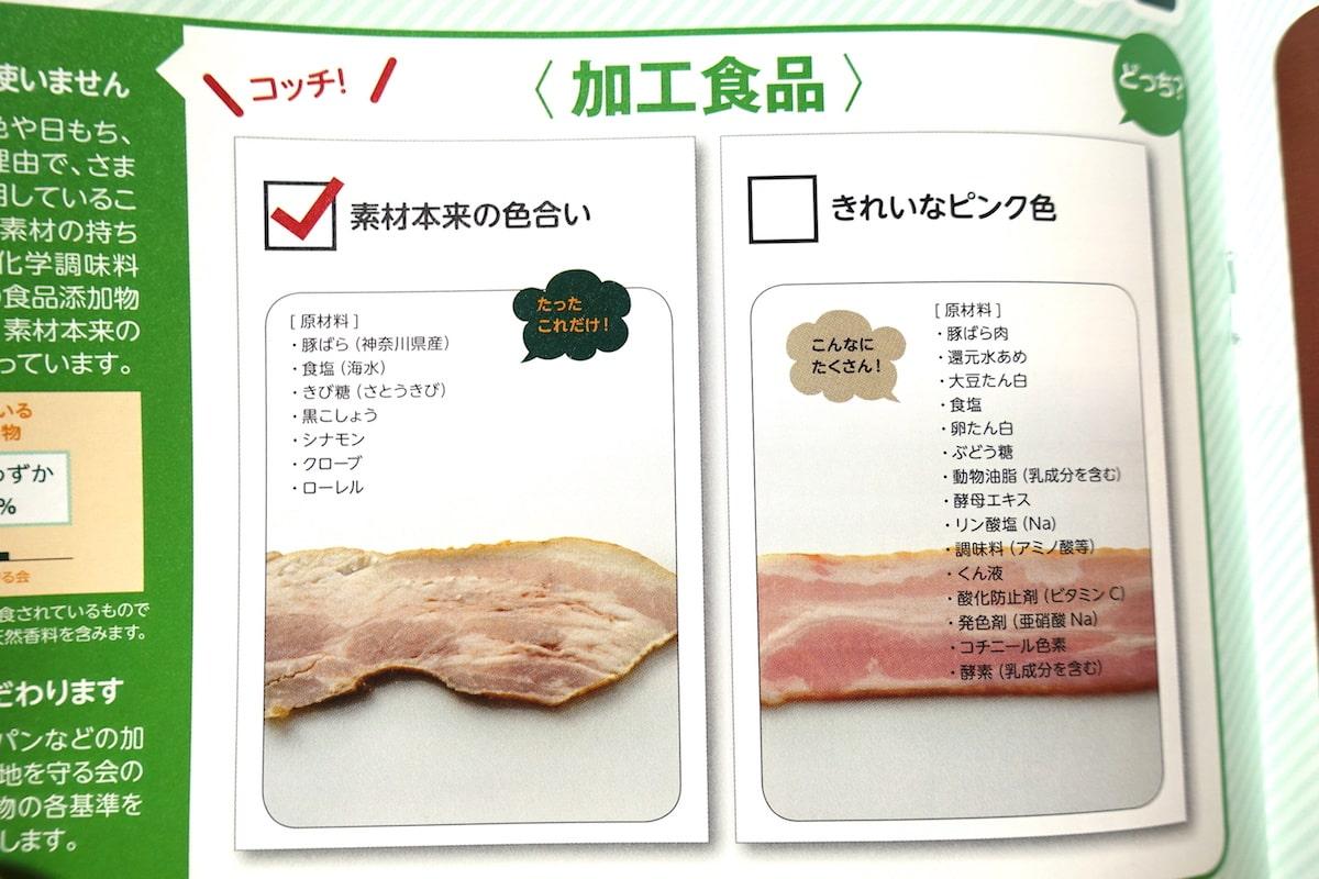 大地を守る会の加工食品添加物に関する資料