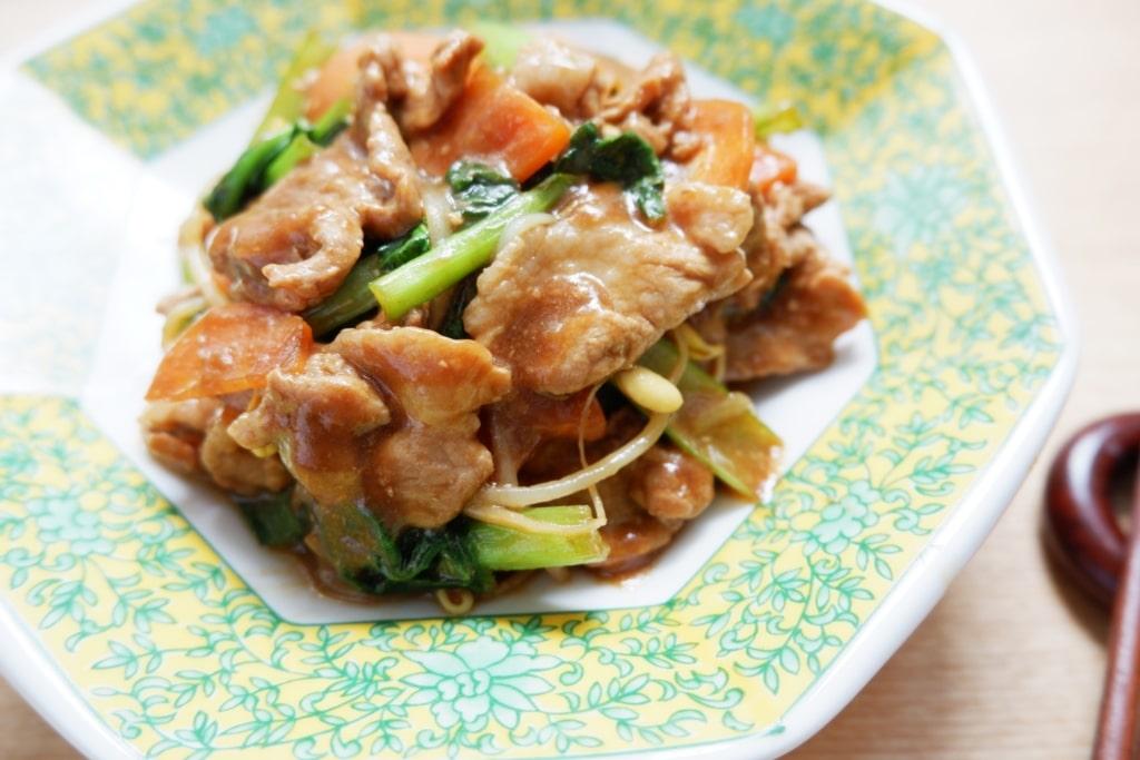 伊勢丹ドアで作った熟成肉と野菜の味噌炒め