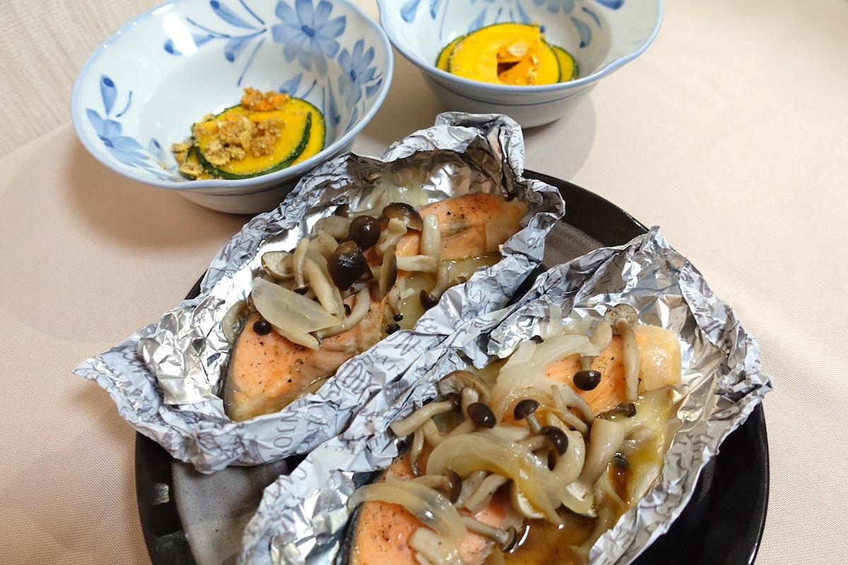 オイシックス銀鮭の包み焼きとかぼっコリー