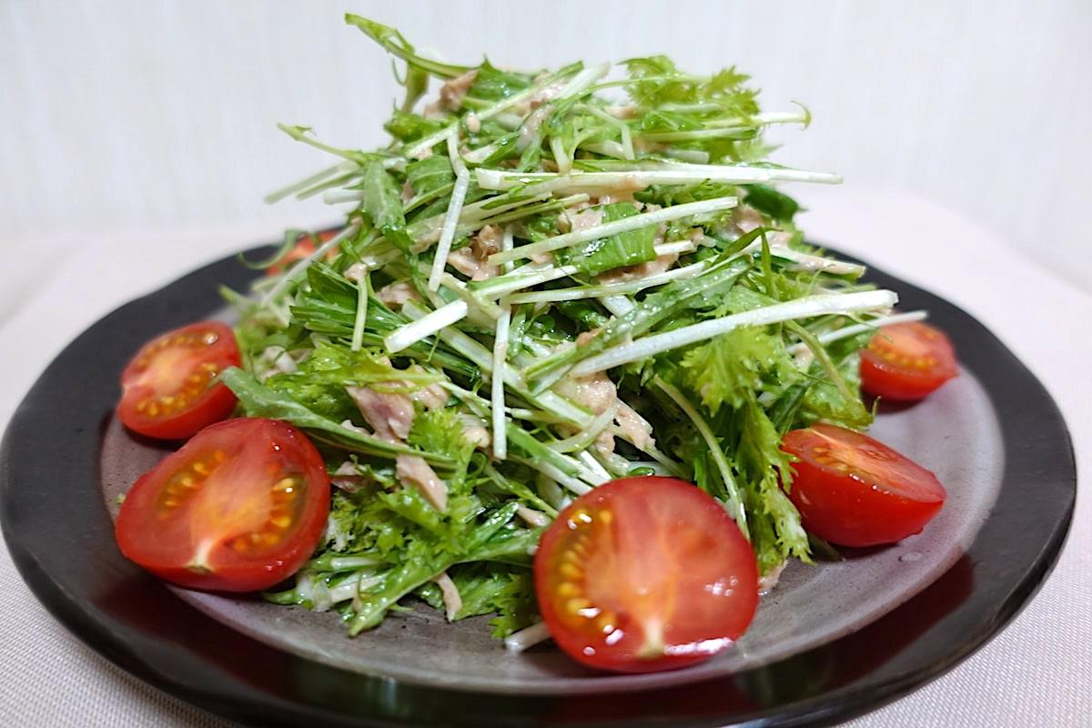 らでぃっしゅぼーやの水菜サラダ