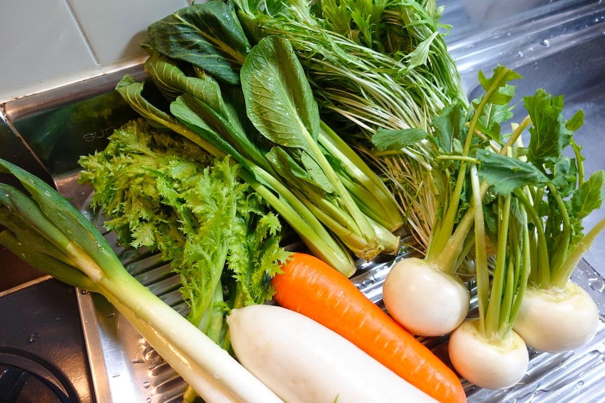 らでぃっしゅぼーやの野菜たち