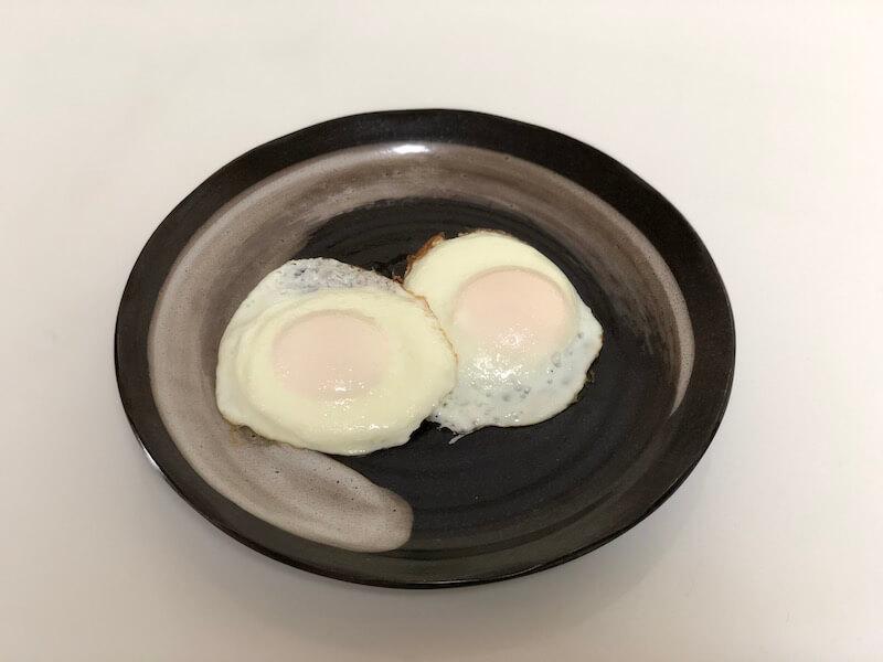 パルシシステムの卵で目玉焼き完成
